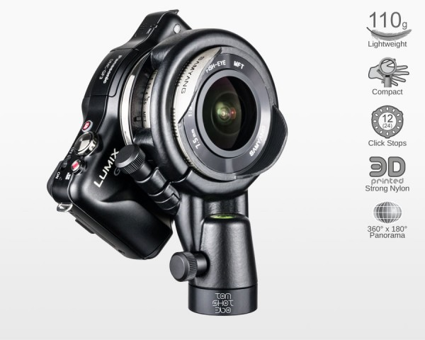 Ultralight Panohead for Samyang 7.5mm MFT (+4°)