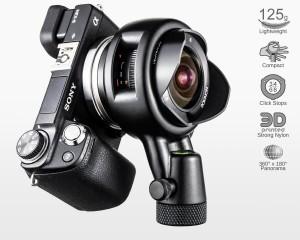 Ultralight Panohead for Samyang 8mm f2.8 Series 2 (+5°)