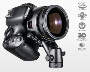 Ultralight Panohead for Samyang 8mm f3.5 Canon (+8°)