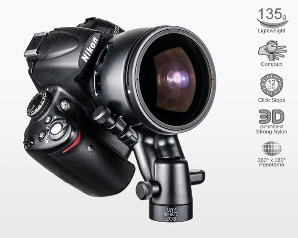 Ultralight Panohead for Samyang 8mm f3.5 Nikon (+5.5°)