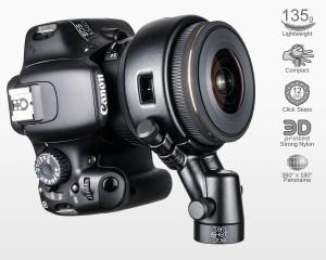 Ultralight Panohead for Sigma 4.5mm f2.8 (+7.5°) Classic Design